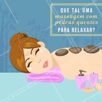 Que tal relaxar com uma boa massagem com pedras quentes? Aproveite para marcar o seu horário. #massagem #ahazou #pedrasquentes #ahazoumassagem #relaxamento #agendamento