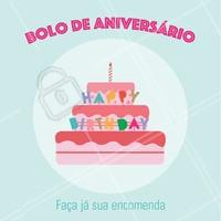 Aceitamos encomendas! Entre em contato para saber valores e sabores. #bolo #ahazou #doceria #doce #bolodeaniversario #aniversario