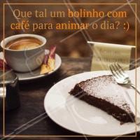 Venha saborear nosso café com bolo. #alimentacao #ahazou #bolo #cafe