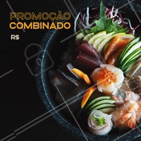 Aproveite o desconto do dia para provar aquele combinado! #alimentacao #ahazou #sushi #food #promocao
