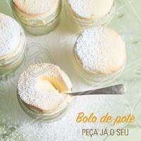 Já pediu seu bolo de pote? Experimente essa delícia, peça já o seu! #bolodepote #ahazou #bolo #doce #doceria