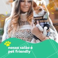 Sim, aqui você pode trazer seu pet para curtir um dia de beleza com você! Aproveite. 🐶🐱 #pet #cachorro #ahazou #beleza #salaodebeleza