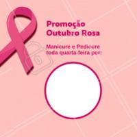 Aproveite a promoção especial do mês de outubro e marque o seu horário. #manicure #ahazou #unhas #desconto #outubrorosa