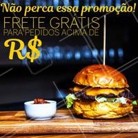 Promoção do dia. Aproveite e faça o seu pedido agora mesmo. #hamburguer #ahazou #alimentacao