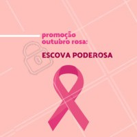 Em homenagem à campanha Outubro Rosa, todas vocês clientes poderosas podem aproveitar essa promoção! 💕 #outubrorosa #ahazou #escova #cabelo #cabeleireiro #salaodebeleza