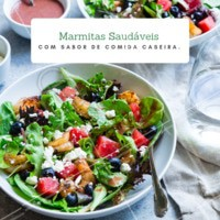 Peça já a sua e experimente levar uma alimentação mais saudável para a sua rotina! #alimentaçao #marmita #ahazou #comida #fitness #marmitasaudavel