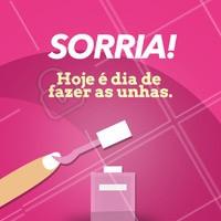 Pode comemorar e ficar feliz porque hoje é dia de fazer as unhas! #unha #ahazou #manicure