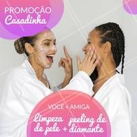 Traga sua amiga e aproveitem essa promoção! 😍 #limpezadepele #ahazou #peelingdediamante #esteticafacial