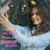 Uma pele saudável e bonita faz toda diferença na foto! Venha fazer uma limpeza de pele e veja a diferença! Agende seu horário!  #limpezadepele #cuidadoscomapele #selfie #ahazouestetica #esteticafacial