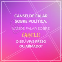 Conta pra gente aqui nos comentários! 😂  #cabelo #ahazou #engracado #politica #eleicoes2018