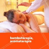Venha relaxar e aproveitar esse tratamento de bambuterapia com aromaterapia. Você merece! 🙏 #massagem #massoterapia #ahazou #bambuterapia #aromaterapia