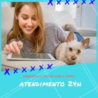 Atendimento 24h para cuidar do seu pet até em momentos de emergência. 🚨 Anote nosso contato: (xx) xxxx-xxxx #veterinario #petshop #ahazou #animal #pet #cachorro #gato #ahazoupet