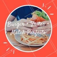 Tem combinação mais clássica e perfeita? É o match mais delicioso de todos! 🍔🍟 #burger #hamburguer #xburger #fritas #ahazou #fastfood #comida #batatafrita #ahazoualimentacao