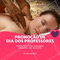 Aproveite para vir se cuidar! #massagem #ahazou #diadosprofessors #promocao