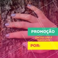 Já agende todas as suas manicures do mês com desconto! Aproveite a promoção. #manicure #ahazou #promocao #unhas