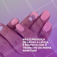 Quem concorda dá dois cliques. #manicure #ahazou #unhas #esmalte #engracado #meme