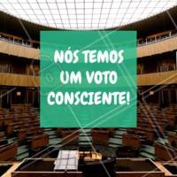 Não importa o candidato, o que importa é a consciência! #ahazou #eleicoes2018 #maisamor #amor #patria