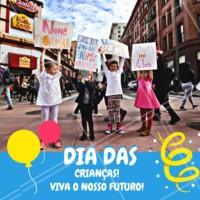 Que em meio a tanta tensão, possamos voltar a ser criança e pensar no futuro delas! #ahazou #diadascrianças #comemoração