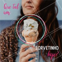 Venha saborear nossos deliciosos sorvetes. Temos opções veganas! #alimentacao #ahazou #sorvete #convite