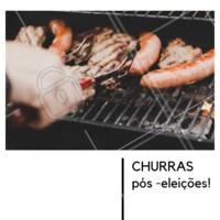Vamos fazer um churrasco pra reunir todo mundo e ficar de bem? #ahazou #churras #poseleicoes #reunião