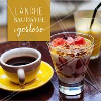 Sentiu uma fominha no meio da tarde? Escolha um café preto, um iogurte natural, frutas e ceral. O lanche completo e cheio de saúde! #dieta #ahazou #saude #alimentacaoahazou #food