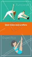 Qual treino você prefere: Funcionais ou Específico?