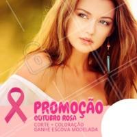 Aproveite para ficar linda no mês de outubro e celebrar a luta contra o câncer de mama. #outubrorosa #ahazou #promocao #cancerdemama #cabelo
