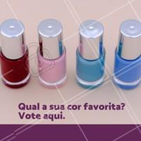 Escolha o tom que você mais gosta! #esmalte #ahazou #cores #enquete #engracado