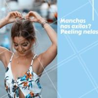 Você sabia que o peeling pode ajudar muito a combater as manchas nas axilas? Independente da causa, seja por conta do seu tipo de pele, alergias, entre outras questões, o peeling é uma ótima opção para esse problema! #peeling #ahazouestetica #manchas #axilas