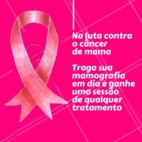Participe! Vamos aumentar a conscientização do câncer de mama e destacar a importância do auto-exame e visitas regulares ao médico para prevenção da doença. #outubrorosa #ahazouestetica #esteticacorporal #esteticafacial