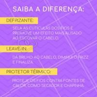 Você sabe a diferença entre os defrisantes, leave-in e o protetor térmico?  🤔  #cabelo #cuidadoscomocabelo #ahazou #dicascapilares #cabeloperfeito