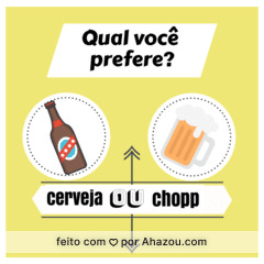 Que dúvida!!! E vocês o que preferem? #cerveja #chopp #ahazou #enquete