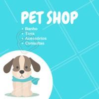 Oferecemos todos os serviços que o seu pet precisa. Venha conhecer! #pet #ahazou #animais #cachorro #gato #petahazou #veterinario