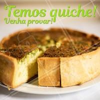Temos diversos sabores de quiche para você provar. #comida #ahazou #quiche #alimentacaoahz #food