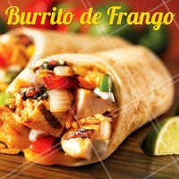 Vai um burrito de frango aí? 😋 Peça o seu que temos delivery! #mexicano #ahazou #delivery #alimentacaoahz #food