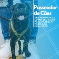 Para agendar um horário envie uma mensagem! #dog #pet #ahazou #passeador #cachorro #dogwalker