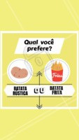 Diga aqui o seu favorito! #batata frita #ahazou #batatarustica #alimentacaoahz #food