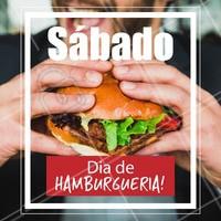 Vem pra cá! Sábado é dia de curtir na hamburgueria. 🍔 #hamburguer #ahazoualimentaçao #hamburgueria #sabado