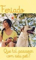 Use esse momento para seu cãozinho curtir o feriadão também. Que tal um passeio? 😍 #pet #ahazou #animal #animais #ahazoupet #cachorro