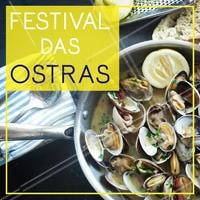 Chegaram ostras fresquinhas e saborosas, venha provar essa iguaria. #alimentacao #ahazou #ostras