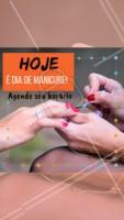 Aproveite para marcar a sua manicure da semana. 💅🏻 #manicure #ahazou #esmalte #dicas #horario