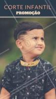 Aproveite para vir cortar o cabelo do seu filho com desconto. #barbearia #ahazou #corteinfantil #garotos #menino