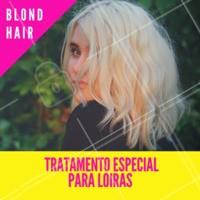 Venha cuidar das madeixar loiras com nossas hidratações especiais para fios claros. #cabelofemino #ahazou #loiras #hidratacao #cuidados