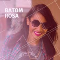 A tendência do batom rosa continua em alta! A versão matte já conquistou o coração das mulheres. Você gosta? #maquiagem #ahazou #batom #rosa #matte