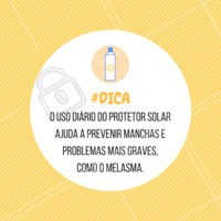 Sempre bom lembrar! #protetorsolar #cuidadoscomapele #ahazouestetica #esteticafacial #melasma #dicadepele