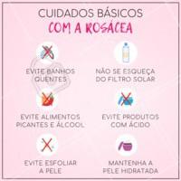 Aqui vão alguns cuidados básicos super importantes para lidar com a rosácea 👆  #rosácea #esteticafacial #ahazouestetica #cuidadoscomapele