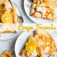 Já experimentou o nosso crepe francês? Temos diversas opções, doces e salgadas. #crepe #ahazou #crepefrances
