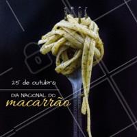 Para os amantes de macarrão, hoje é O DIA!!! #macarraoahz #massa #ahazou #pasta #diadomacarrao