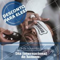 Para homenagiar o dia DELES, nosso serviço de barbearia está com 10% de desconto. Aproveite! #homens #barba #ahazou #barbearia #diadohomem