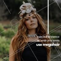 Quer se sentir uma sereia com cabelos longos e lisos? Agende o horário para aplicar seu megahair! #cabelo #megahair #ahazou #cabelo #ahazoucabelo #cabeleireiro
